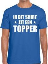 In dit shirt zit een Topper t-shirt blauw voor heren 2XL
