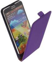 LELYCASE Flip Case Lederen Hoesje Samsung Galaxy Note 3 Lila