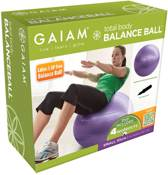 Gaiam Total Balance Ball Kit - Medium - 55cm  - Paars