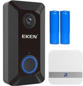 Eken - Ring Video Deurbel V6 + Accu`s en extra Gong - Nanders Webwinkel
