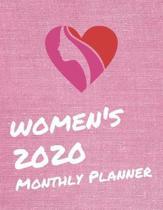 Women's 2020 Monthly Planner: Monthly Calendar Goals Todo List Tracker Birthdays Events Ruled Notes Planner Scheduler Organizer
