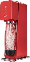Sodastream Source White Bubblemaker - Plastic - 44 x 30.3 x 14.9 cm - Rood