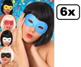 6x Oogmasker farfalla assortie