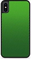 iPhone Xs Hardcase hoesje groene cirkels