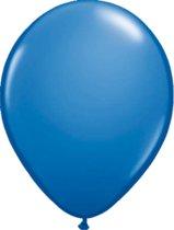 Donkerblauwe metallic ballonnen 30cm 100 stuks