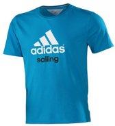 Adidas Performance Logo  Shirt - Blauw - S - Heren