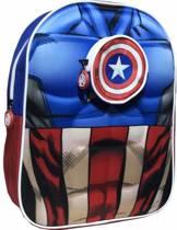 The Avengers 3d rugzak - Marvel captain America 33cm