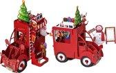 Popcards popupkaarten - Kerstkaart kerstman auto Citroën 2CV lelijke eend pop-up kaart