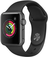 Apple Watch Classic Smartwatch - 38 mm - Spacegrijs Aluminium / Zwart - Sportband