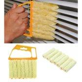 Jaloezie reiniger - luxaflex borstel - lamellen reiniger - geel