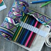 Premium Rol Etui | Stiften Opbergen | Pennen Etui | Voor 36 Potloden/Pennen | Oprolbaar