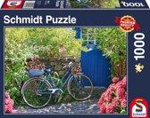 Fiets in de tuin, 1000 stukjes Puzzel