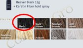 12g Hair Fiber - Keratine Volume Haarvezels ( Black ) + Keratine Fiber Hold Spray