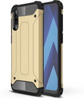 Samsung Galaxy A50 Hoesje - Armor Hybrid - Goud