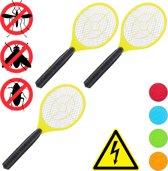 relaxdays 3x elektrische vliegenmepper - tegen muggen - vliegen mepper elektrisch - geel