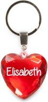 sleutelhanger - Elisabeth - diamant hartvormig rood