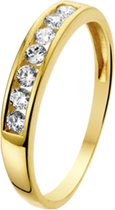 The Jewelry Collection Ring Zirkonia - Geelgoud (14 Krt.)