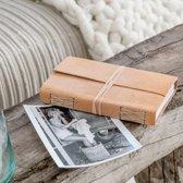 Boek Kaft Buffel Leer   Reisdagboek   Tekenboek