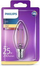 LED lamp E14 2W 250Lm kaars filament