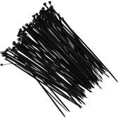 Tie-wraps zwart 18 cm 100 stuks - Tiewrap