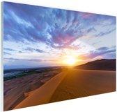 Woestijn tijdens zonsopkomst Glas 90x60 cm - Foto print op Glas (Plexiglas wanddecoratie)