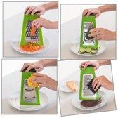 Multifunctionele Opvouwbare Keuken Rasp - Groente/Fruit/Kaas/Gember/Citroen/Chocolade Raspen - Fijn/Grof - Grater 4-Zijdig - RVS - Vaatwasser Bestendig