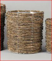 Rasteli Bamboe rieten mand met binnenhoes D 29 H 30