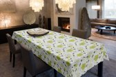 Joy@home Tafellaken - Tafelkleed - Tafelzeil - Bloemen Groen - 140cm x 250cm