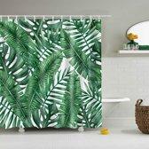 Douchegordijn - Badkamer - Botanisch - Tropisch - Jungle - Natuur - met Ophang Ringen/Haken - Polyester - Groen - 200 x 180 cm