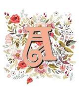 A Monogram Letter Floral Wreath Notebook