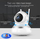 Resal Draadloos Wifi Ip Camera/Babyfoon HD1080 - Wit