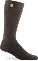 Wollen Sokken - Button Right - Woolly Antracite maat 39-42
