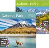 Helma CA09-19 wand kalender 2019 Nationale Parken 30 x 30 cm