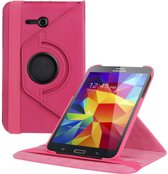 Samsung Galaxy Tab 3 Lite 7 inch Tablet Hoes cover 360 graden draaibaar met Multi-stand kleur Pink / Roze