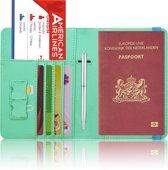 Paspoorthoesje / Paspoorthouder - V2 - Mintgroen