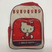 Hello Kitty - Rugzak Meisje - Rood Wit - 34x26x9