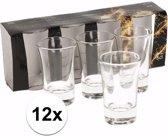 12x shotglazen / borrelglaasjes - 5 cl - glas