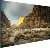 Colorado River Grand Canyon Aluminium 90x60 cm - Foto print op Aluminium (metaal wanddecoratie)