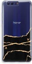 Honor 9 Transparant Hoesje (Soft) - Gouden marmer