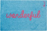 deurmat / tapijt met tekst wonderfull , mad about mats