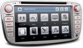 Ford 7 Inch HD digitale touchscreen GPS navigatie auto dvd speler Zilver