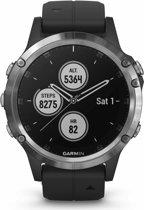 Garmin Fenix 5 Plus - GPS multisport smartwatch met polshartslagmeter - Ø 47 mm - Zilver/Zwart