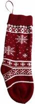 Decoratie Kous Kerst | Rood Wit | Kous voor boven de haard