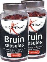 Lucovitaal Bruin Capsules (voorheen Easy Sun)   - 2 x 120 - Voedingssupplement