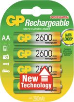 GP Batteries NiMH rechargeable batteries GP Rechargeable NiMH Accu AA