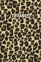 Tiffaney: Personalized Notebook - Leopard Print Notebook (Animal Pattern). Blank College Ruled (Lined) Journal for Notes, Journa
