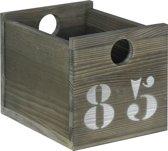 Bopita - Basic Wood - Bakje Mini - 20 X 15 X 15 Cm - Grey Wash