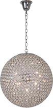 Lucide Persis Hanglamp - Ø60cm - Chroom/Kristal
