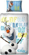 Disney Frozen Olaf - Dekbedovertrekset - Eenpersoons - 135x200 cm - Multi