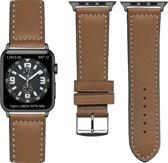 """Frans Top kwaliteit """"sports"""" Apple watch horlogebandje Bruin (38mm) zwarte adapter"""